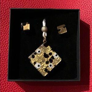 Handmade Murano Glass Necklace & Earrings